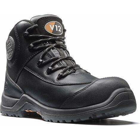 V12 Intrepid Womens Safety Work Boots Black (Sizes 2-8)