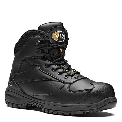 V12 Octane Safety Work Boots Black (Sizes 6-13)