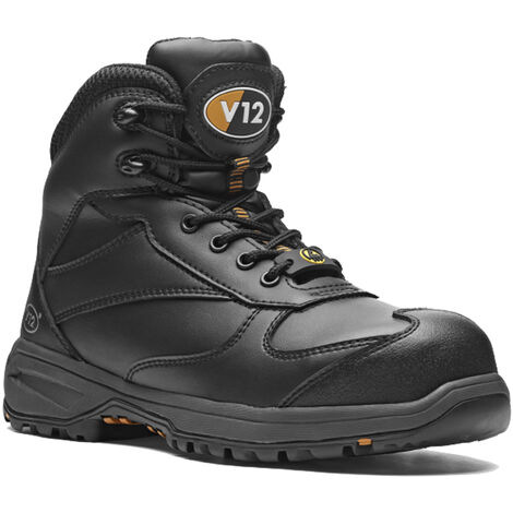 V12 Octane Womens Safety Work Boots Black (Sizes 2-8)