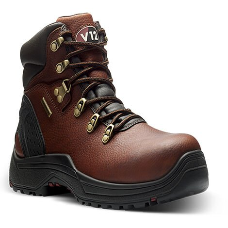 V12 Storm Waterproof Lightweight Safety Work Boots Brown (Sizes 6-12)