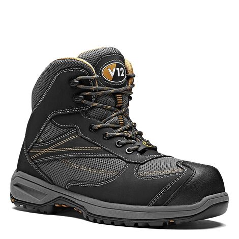 V12 Torque Safety Work Boots Black (Sizes 6-13)