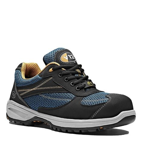 V12 Velocity Safety Work Trainer Shoes Blue & Black (Sizes 6-13)