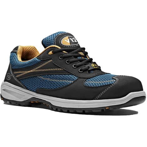 V12 Velocity Womens Safety Work Trainer Shoes Blue & Black (Sizes 2-8)