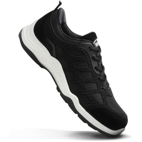 V12 Vital Active Lightweight Safety Work Trainer Shoes Black (Sizes 3-12)