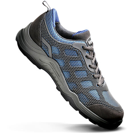 V12 Vital Active Lightweight Safety Work Trainer Shoes Blue (Sizes 3-12)