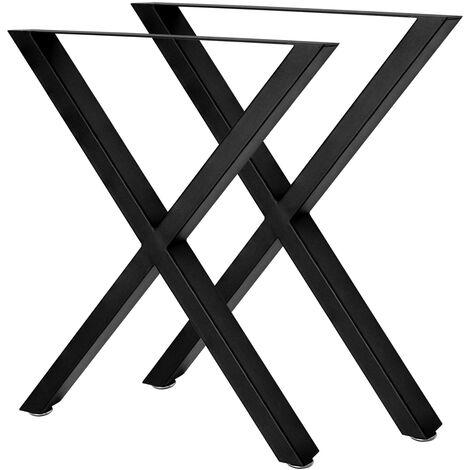 """main image of """"V2Aox 2 Jambes Pieds de Tables 60 x 72 cm Acier"""""""