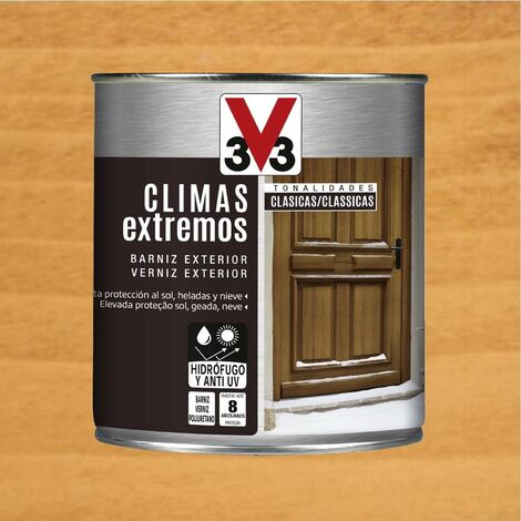 V33 009809 - Barniz exterior Climas Extremos tonalidades clasicas color pino acabado brillante 750 ml