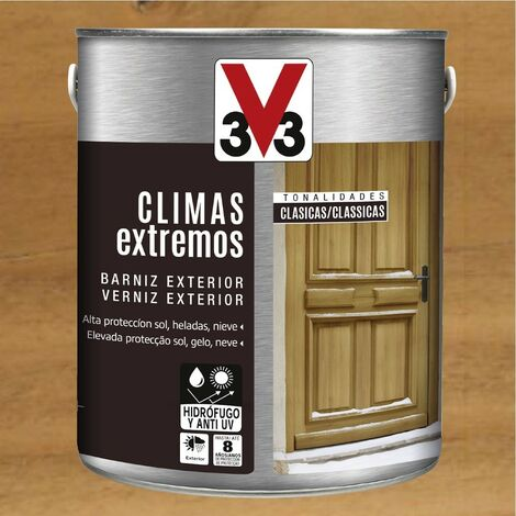 V33 009810 - Barniz exterior Climas Extremos tonalidades clasicas color roble oscuro acabado brillante 2,5 L
