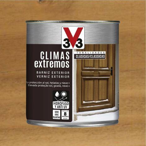 V33 009811 - vernis d'extérieur pour climatiseur nuances classiques couleur chêne foncé finition brillante 750 ml