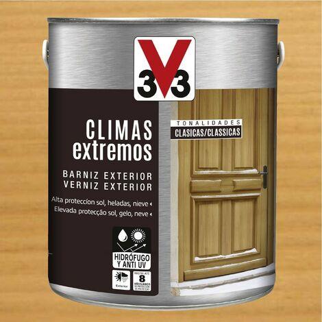 V33 009812 - Barniz exterior Climas Extremos tonalidades clasicas color roble claro acabado brillante 2,5 L