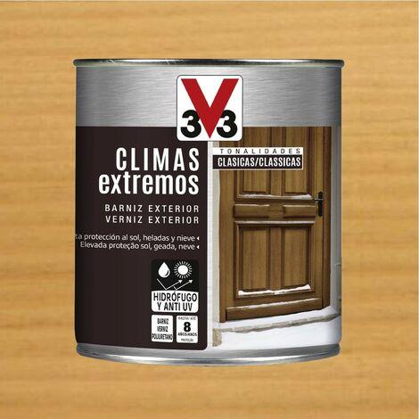 """main image of """"V33 009813 - Barniz exterior Climas Extremos tonalidades clasicas color roble claro acabado brillante 750 ml"""""""