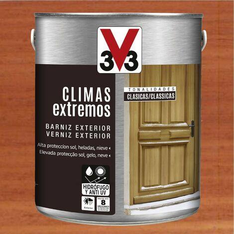V33 009814 - Barniz exterior Climas Extremos tonalidades clasicas color sapeli acabado brillante 2,5 L