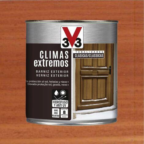 V33 009815 - Barniz exterior Climas Extremos tonalidades clasicas color sapeli acabado brillante 750 ml