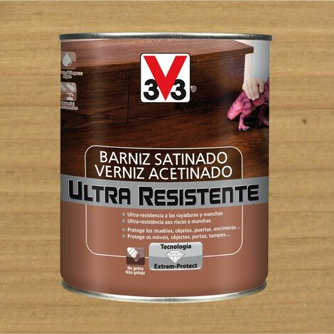 V33 056643 - Barniz interior Ultra Resistente color roble claro acabado satinado 750 ml