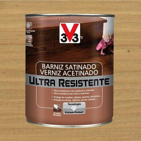 V33 056643 - vernis d'intérieur Ultra résistant couleur chêne clair finition satinée 750 ml