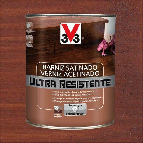 V33 056649 - vernis d'intérieur Ultra-résistant couleur acajou finition satinée 750 ml