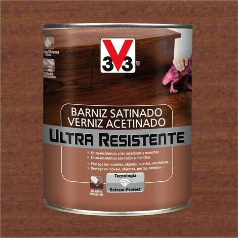 V33 056661 - vernis d'intérieur Sapele couleur Ultra-résistant finition satinée 750 ml