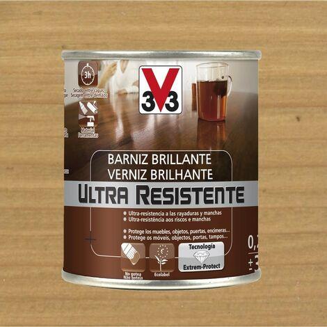 V33 056766 - vernis d'intérieur Ultra résistant couleur chêne clair finition brillante 750 ml