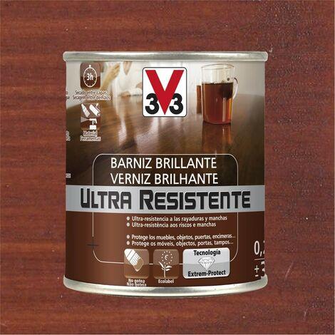 V33 056772 - vernis d'intérieur Ultra-résistant couleur acajou finition brillante 750 ml