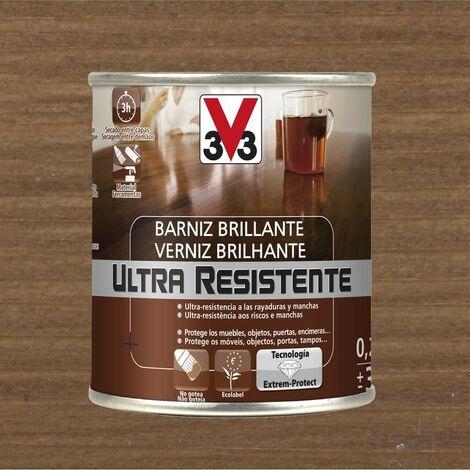 V33 056775 - vernis intérieur Ultra-résistant couleur noyer finition brillante 750 ml