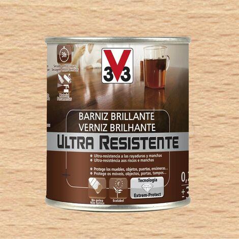 V33 056781 - vernis de finition Ultra-résistant couleur incolore brillant pourl'intérieur 750 ml