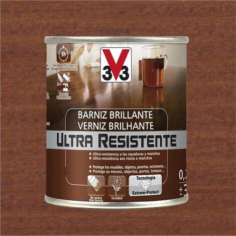 V33 056802 - vernis d'intérieur Sapele couleur Ultra résistante finition brillante 750 ml