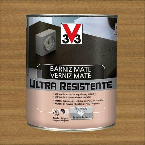 V33 056838 - vernis intérieur Ultra résistant couleur chêne foncé finition mate 750 ml