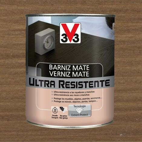 V33 056844 - vernis intérieur Ultra résistant couleur noyer finition mate 750 ml