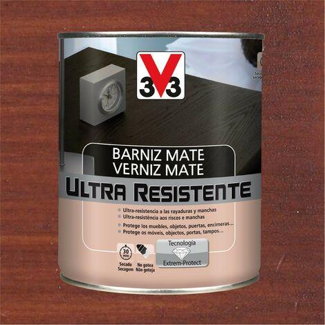 V33 056850 - vernis intérieur Ultra résistant couleur acajou finition mate 750 ml