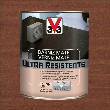 V33 056865 - Vernis d'intérieur Sapele couleur Ultra résistante finition mate 0,75L