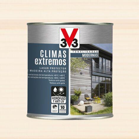 V33 112722 - Protector decorativo Climas Extremos tonalidades modernas para madera color cedro blanco 750 ml