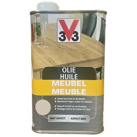 V33 Huile Meuble Blanc 0,5 L