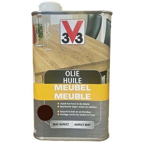 V33 Huile Meuble Ebène 0,5 L - Ebène