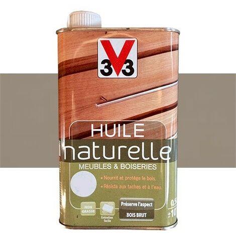 V33 Huile naturelle Meubles & Boiseries Smoke 0,5 L