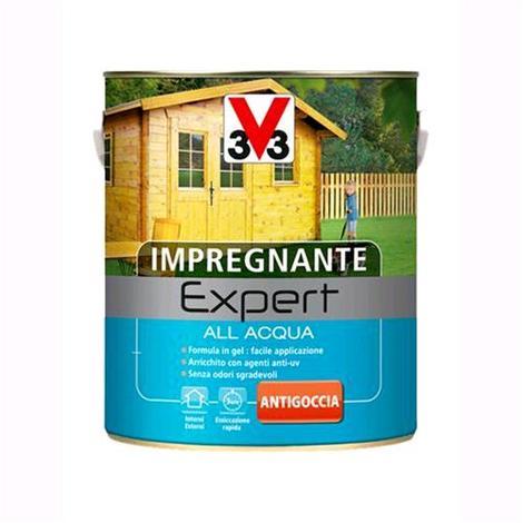 V33 Impregnante all'Acqua Linea Expert Colore Noce Chiaro 750 ML