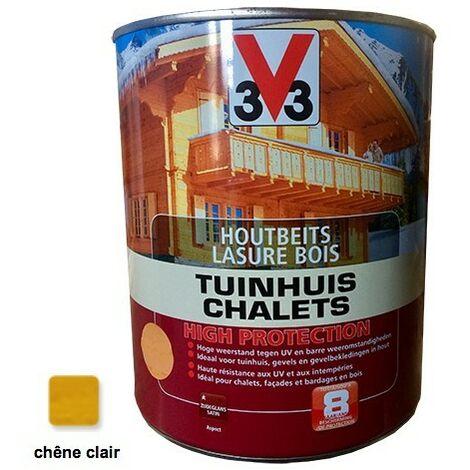 V33 Lasure Bois Chalet Haute Protection Chêne clair 3L