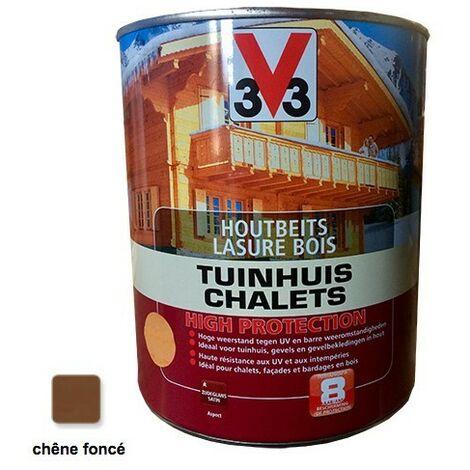 V33 Lasure Bois Chalet Haute Protection Chêne foncé 3L