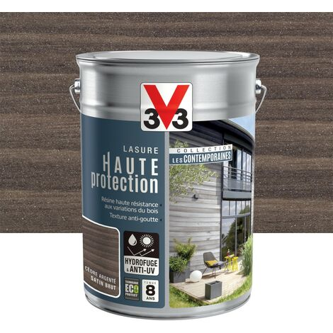 V33 Lasure Haute Protection Les Contemporaines Cèdre Argenté 5 L