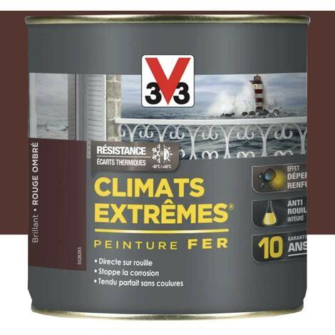 V33 Peinture Climats Extrêmes Fer Rouge Ombré Mat 0,5 L - RougeOmbre