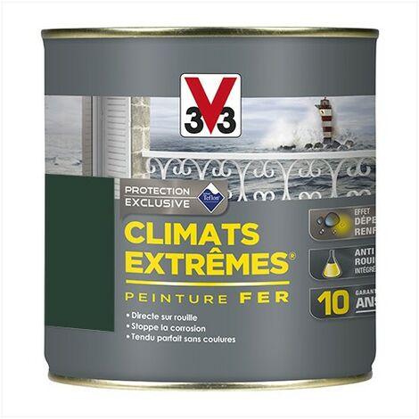 V33 Peinture Climats Extrêmes Fer Vert Omorika Mat 0,5 L - VertOmorika