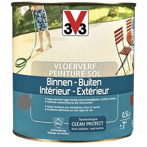 V33 Peinture Sol Intérieur/Extérieur Graphite 0,5 L - Graphite
