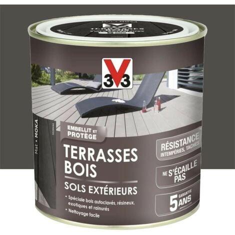 V33 Terrasses Bois Sols Extérieurs Moka 0,5 L - Moka