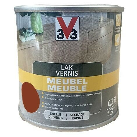 V33 Vernis Meuble Acajou satin 0,25 L