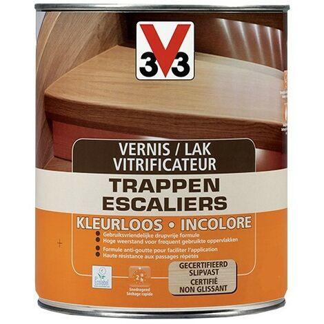 V33 Vitrificateur Escalier Incolore Satin 0,75 L