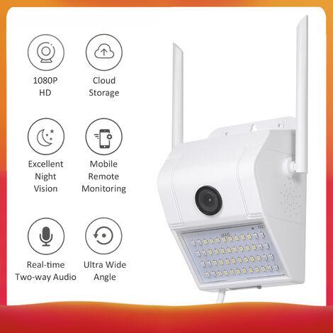V380 surveillance exterieure lampe murale camera wifi exterieur etanche 1080P petite norme europeenne