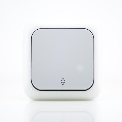 Va et vient étanche IP54 Gris - (appareillage complet) gamme Palmiye
