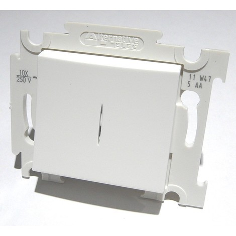 Va et vient lumineux blanc 10A 250V voyant Led localisation bornes auto fixation vis sans plaque ALTERNATIVE ELEC AE52003