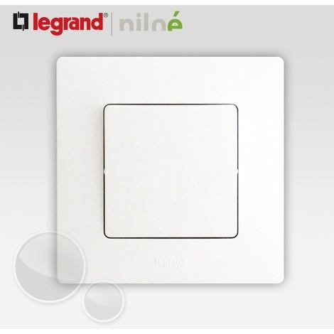 Va et vient/poussoir - Legrand Niloé - Blanc - saillie ou encastré