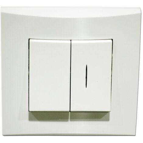"""main image of """"Va et vient + V&V lumineux blanc 10A 250V balisage connexion auto fixation vis / griffes avec plaque ALTERNATIVE ELEC AE52004-P"""""""