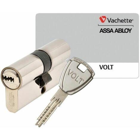 VACHETTE Cylindre de Serrure Volt - Pour Porte Extérieure/Entrée - 6 Goupilles, 4 Clés Incopiables - 30 x 40 mm